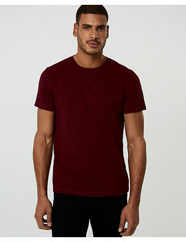 Micro Print Cotton Crew Neck Tee by Le Chateau