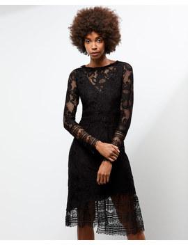 A   Lace Overlay Dress by Jigsaw