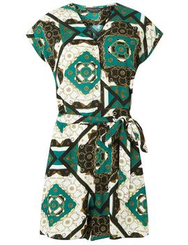 Green And Black Chain Print Playsuit by Dorothy Perkins