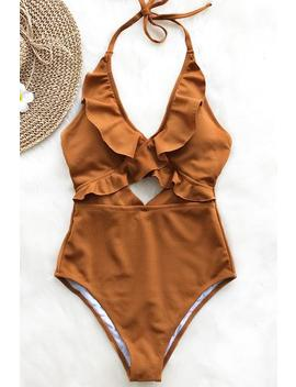 Stay With You Falbala One Piece Swimsuit by Cupshe
