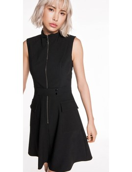 Zip Front Funnel Neck Dress by Cue