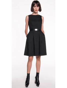 Spliced Neckline Cotton Dress by Cue