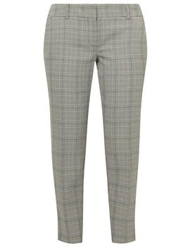 Petite Grey Check Ankle Grazer Trousers by Dorothy Perkins