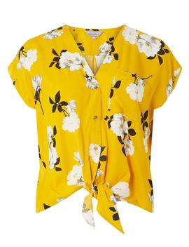 Petite Yellow Floral Print Shirt by Dorothy Perkins