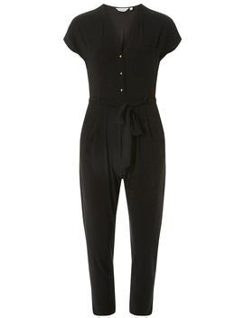 Petite Black Button Jumpsuit by Dorothy Perkins
