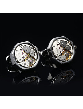 Quartz Watch Cufflinks // Silvertoned by Touch Of Modern