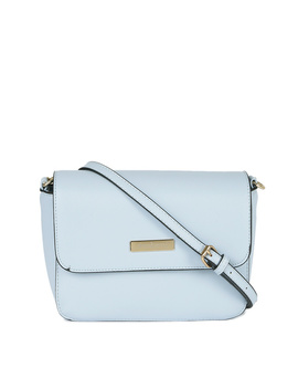 Blue Solid Sling Bag by Dress Berry