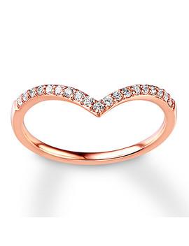 Diamond Wedding Band 1/6 Ct Tw Round Cut 14 K Rose Gold by Kay Jewelers