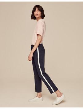 Grosgrain Stripe Slim Crop Trouser                                                                                   Grosgrain Stripe Slim Crop Trouser by Me+Em