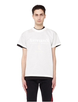 Double Layered Vetements X Hanes Cotton T Shirt by Vetements