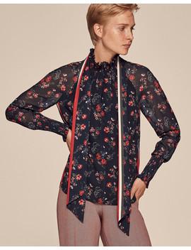 Zip Neck Floral Blouse                                                                                   Zip Neck Floral Blouse by Me+Em