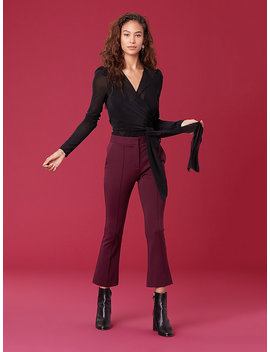 Long Sleeve Wrap Bodysuit by Dvf