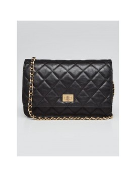 Black Quilted Calfskin Leather Reissue Woc Clutch Bag by Chanel