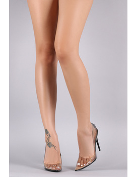 Liliana Transparent Pointy Toe Stiletto Heel by Urbanog