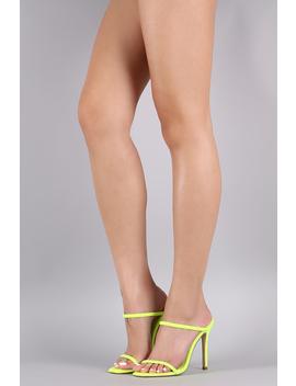 Slim Double Strap Mule Stiletto Heel by Urbanog