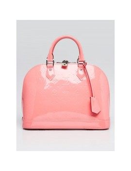 Rose Litchi Monogram Vernis Alma Pm Bag by Louis Vuitton