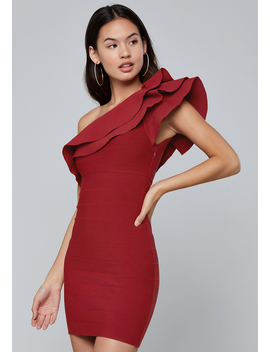 One Shoulder Bandage Dress by Bebe