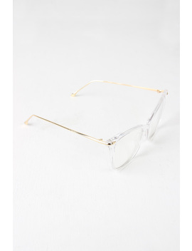 Clear Lense Slight Cat Eye Sunglasses by Urbanog