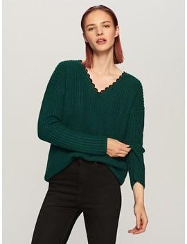 Pullover Mit Spitzendetail Am Ausschnitt by Reserved
