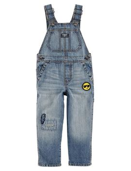 Emoji Patch Denim Overalls by Oshkosh