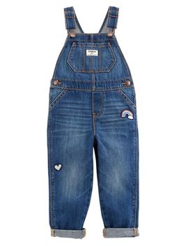 Rainbow Patch Overalls   Medium Wash by Oshkosh