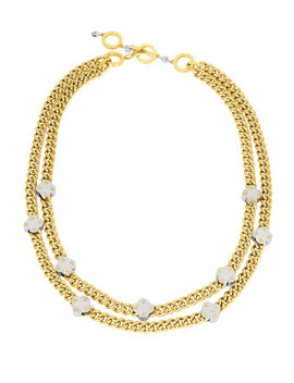 Petal Metal Collar by Henri Bendel
