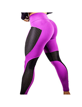 Women's Patchwork Yoga Pants   Black, Blue, Fuchsia Sports Sexy Mesh Tights / Leggings Exercise & Fitness, Running, Gym Activewear Quick Dry, Breathable, Butt Lift High Elasticity  #06768845 by Lightinthebox