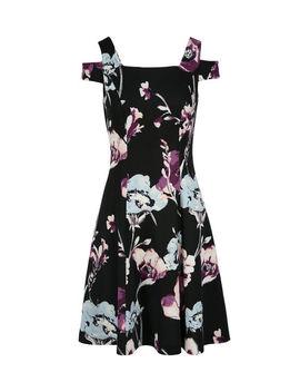 Floral Cold Shoulder Dress by Ricki's