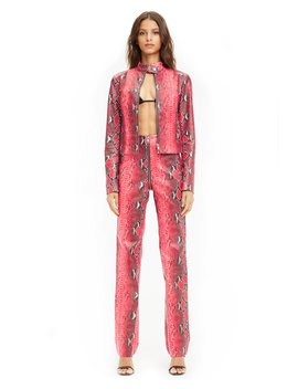Pre Order Anet Jacket   Red Snakeskin (Shipping Late September) by I.Am.Gia