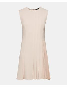 Crepe Pleated Day Dress by Theory