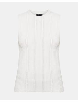 Knit Mock Neck Shell by Theory