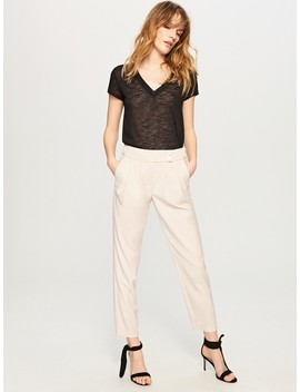 Trousers In Cream by Reserved