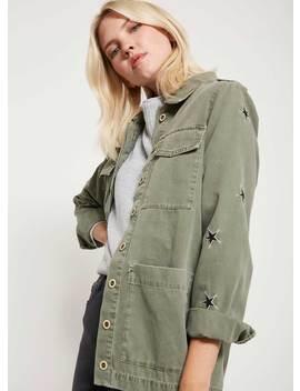 Khaki Star 4 Pocket Jacket by Mint Velvet