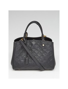 Black Monogram Empreinte Montaigne Mm Bag by Louis Vuitton