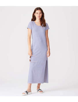 Sundry Stripes Maxi Dress With Slits by Lou & Grey