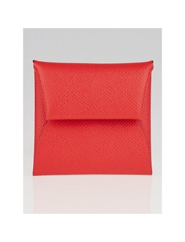 Bougainvillea Epsom Leather Bastia Change Purse by Hermes