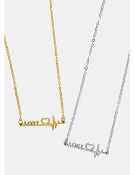 Love Heartbeat Necklace by Miss A