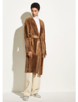 Belted Shearling Coat by Vince