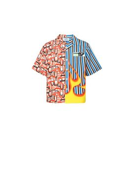 Short Sleeved Shirt With Two Prints by Prada