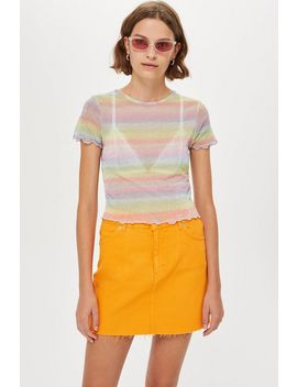 Pastel Rainbow T Shirt by Topshop
