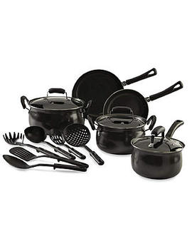 Essential Home 14 Piece Carbon Steel Nonstick Cookware Set Essential Home 14 Piece Carbon Steel Nonstick Cookware Set by Kmart