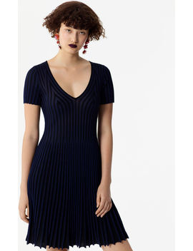 Two Toned Pleated Dress by Kenzo