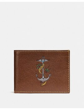 Slim Billfold Wallet With Tattoo by Coach