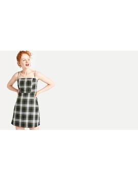 Green Bert Check Mini Dress by Nobody's Child