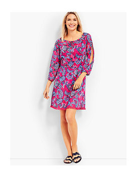 Cold Shoulder Cover Up Pop Paisley by Talbots