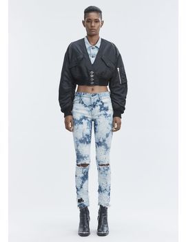 Whiplash Destroyed Jeans by Alexander Wang