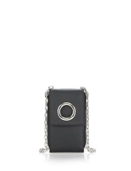 Riot Shoulder Wallet In Matte Black With Rhodium by Alexander Wang
