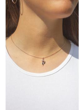 Gold Single Rose Necklace by Brandy Melville