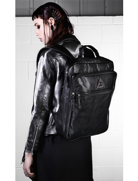 Providence Vegan Leather Backpack by Disturbia