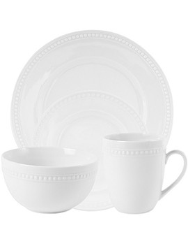 Everyday White®  By Fitz And Floyd® Beaded Dinnerware by Bed Bath & Beyond